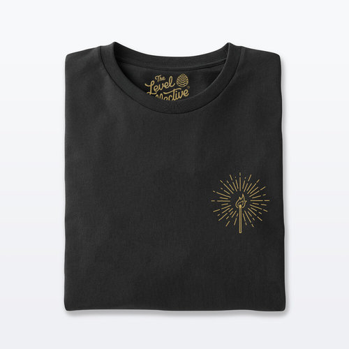 The Level Collective Burn Bright T-shirt Black