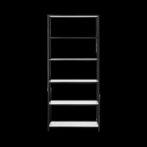 ferm LIVING Haze Bookcase - Reeded Glass Black