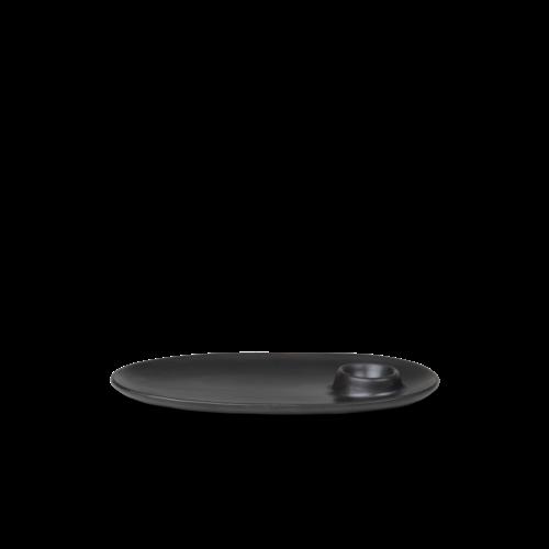 ferm LIVING Flow Breakfast Plate - Black