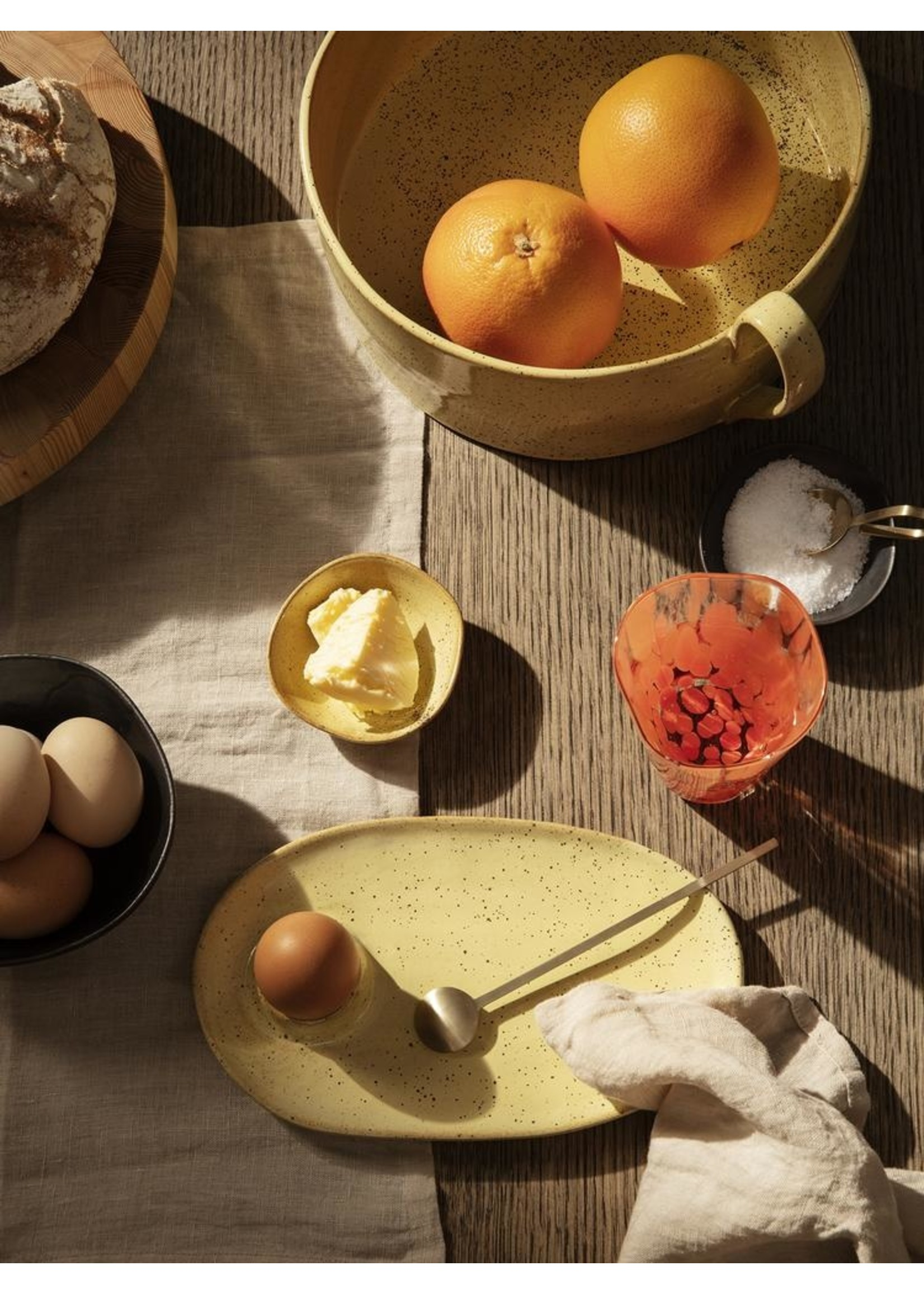 ferm LIVING ferm LIVING Flow Breakfast Plate - Yellow Speckle