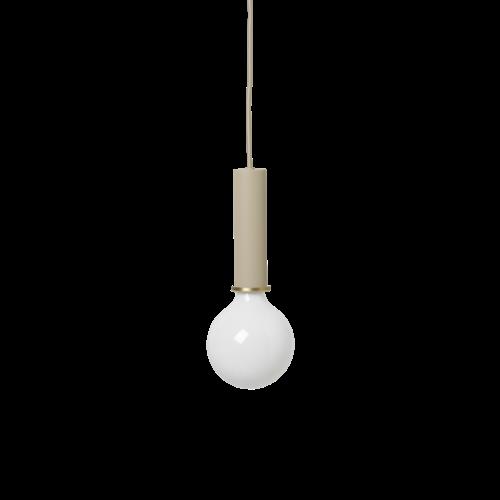 ferm LIVING Lighting - Socket Pendant High - Cashmere