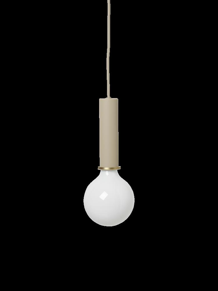 ferm LIVING ferm LIVING Lighting - Socket Pendant High - Cashmere