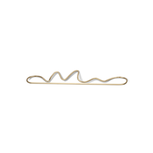ferm LIVING Curvature Towel Hanger - Brass