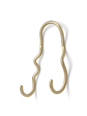 ferm LIVING Curvature Double Hook - Brass