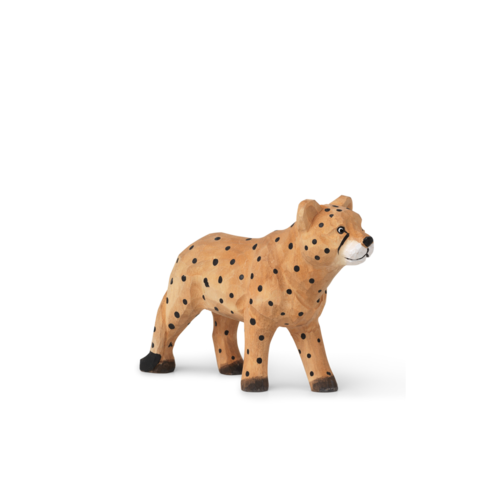 ferm LIVING Animal Hand-Carved Cheetah