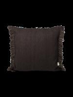ferm LIVING Kelim Fringe Cushion - Small - Dark Melange