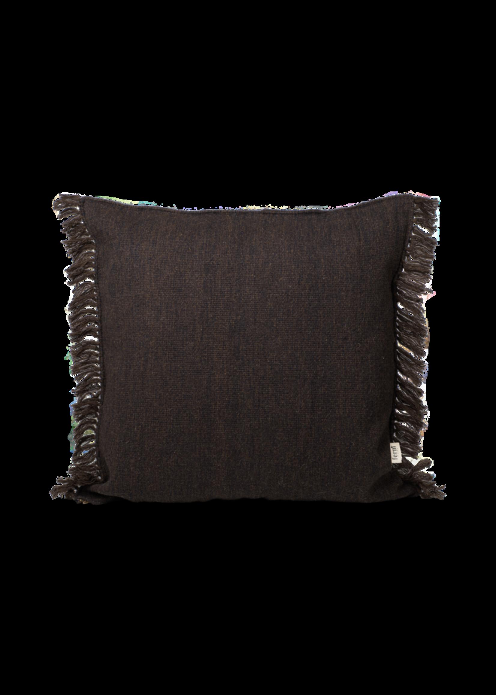 ferm LIVING ferm LIVING Kelim Fringe Cushion - Small - Dark Melange