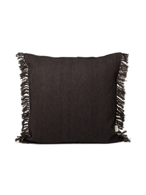 ferm LIVING Kelim Fringe Cushion - Small - Dark Melange