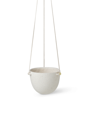 ferm LIVING Speckle Hanging Pot - Large - Off-White
