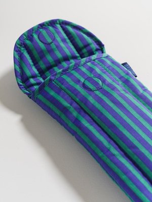 Baggu Baggu Puffy Glasses Sleeve - Cobalt and Jade Stripe