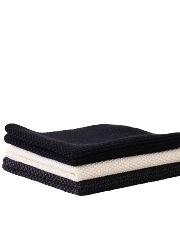Sophie Home Sophie Home Black/Charcoal/Ivory Dishcloths