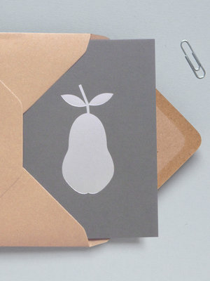 Ola Foil Blocked Cards: Pear Grey/Silver