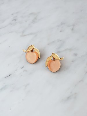 Wolf & Moon Mini Peach Studs