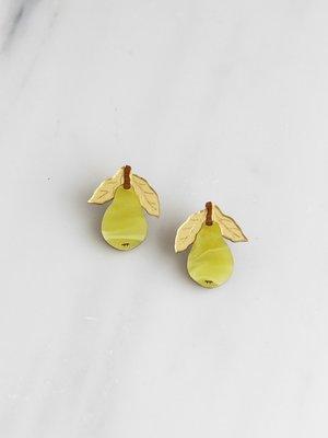 Wolf & Moon Mini Pear Studs
