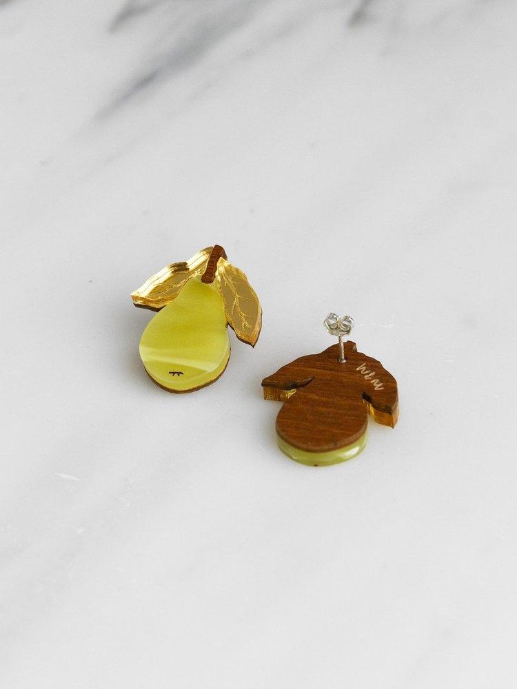 Wolf & Moon Wolf & Moon Mini Pear Studs