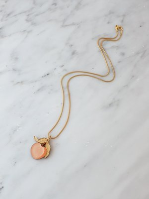 Wolf & Moon Mini Peach Necklace