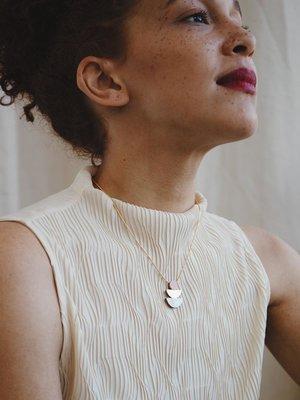 Wolf & Moon Wolf & Moon Selene Necklace Blush
