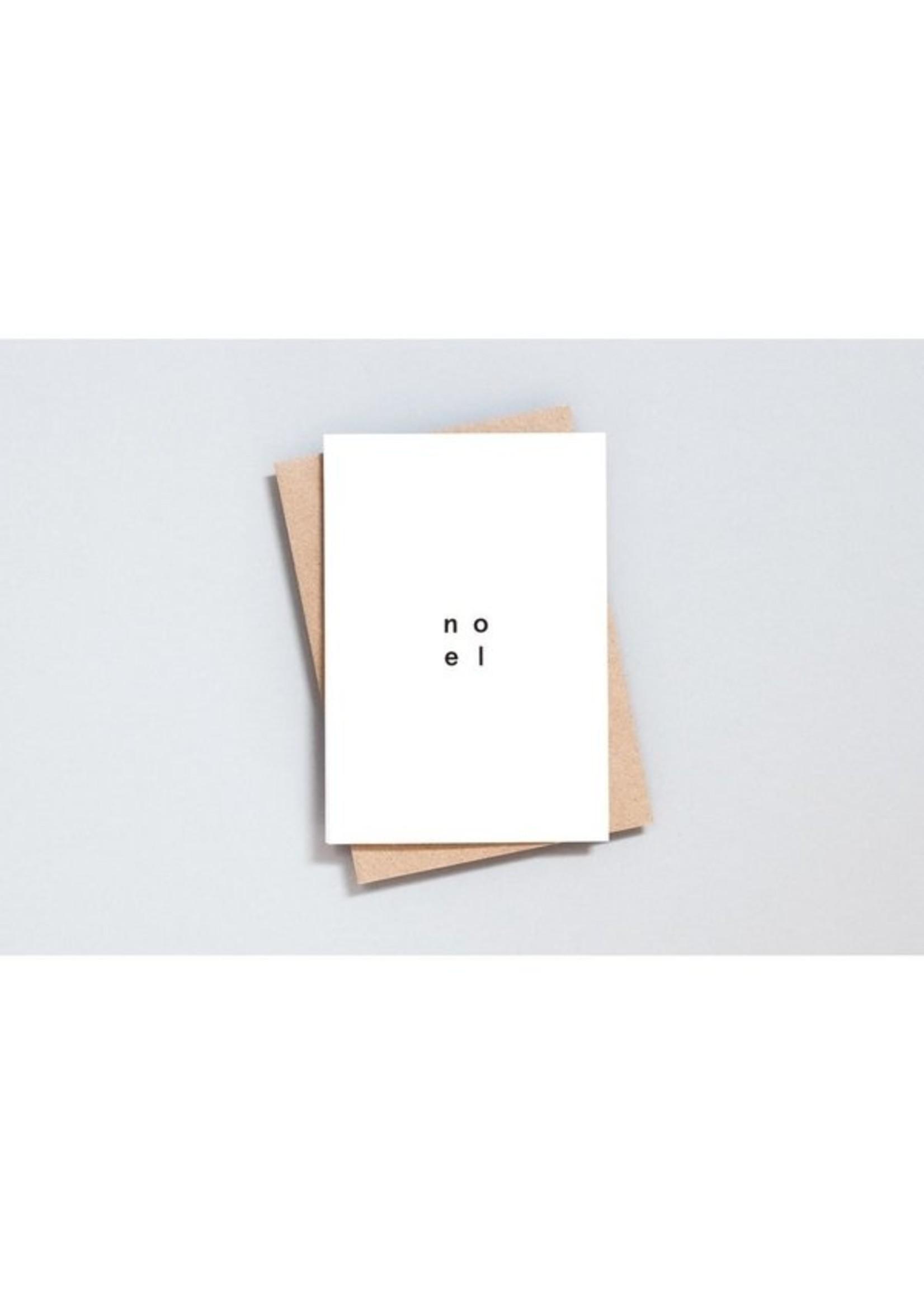 Ola Ola Foil Blocked Card, Noel Print in Natural/Black