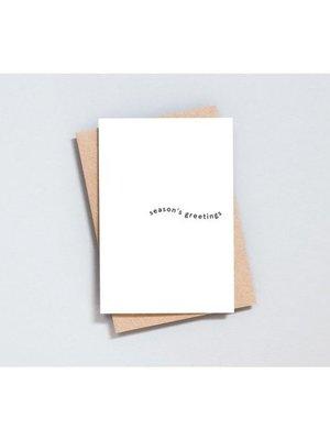 Ola Foil Blocked Cards: Season's Greetings Print in Natural/Black