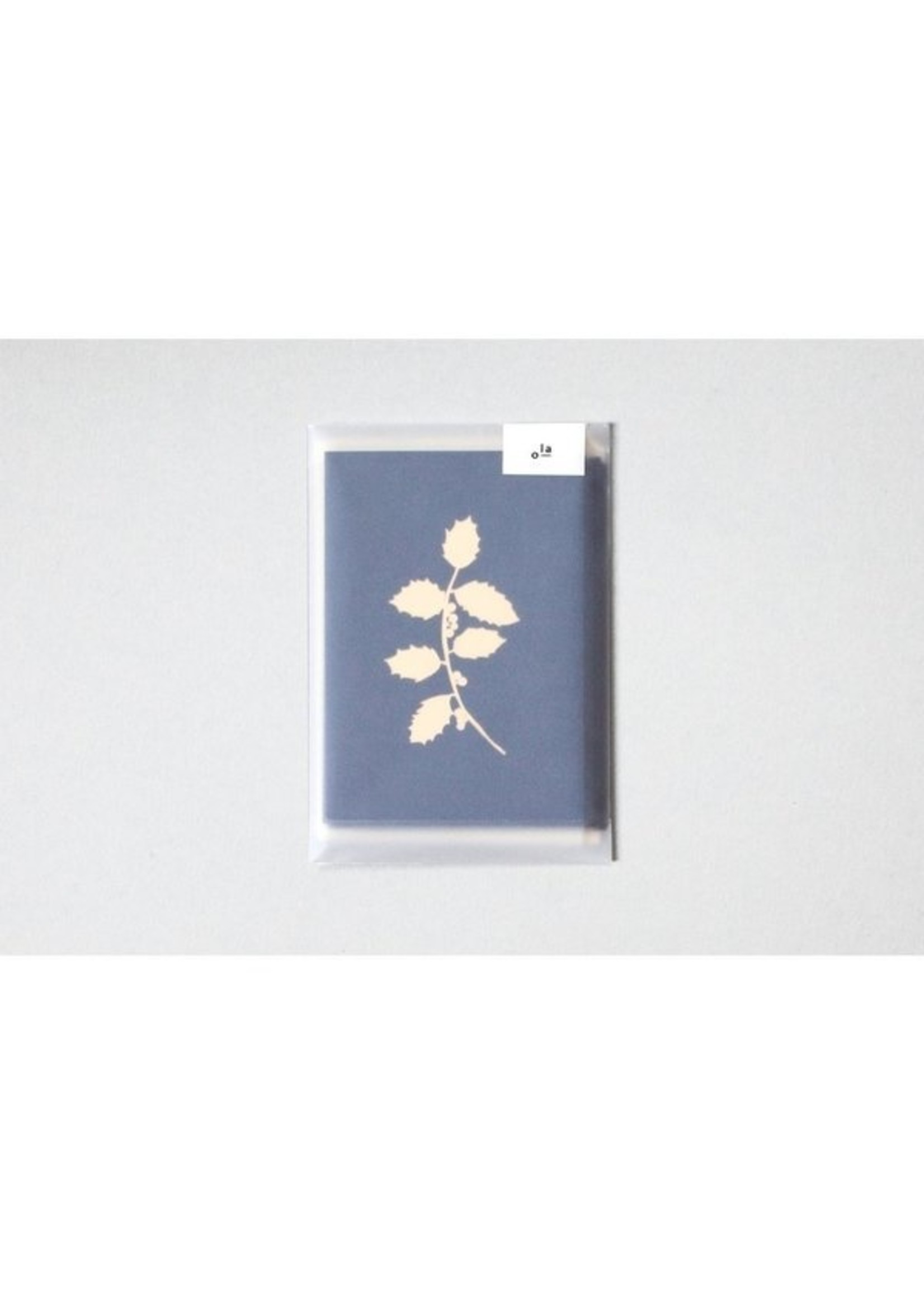 Ola Ola Foil Blocked Cards: Holly Print Pack of 6