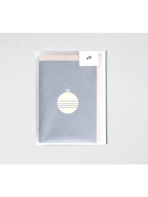 Ola Ola Foil Blocked Cards: Bauble Print Pack of 6
