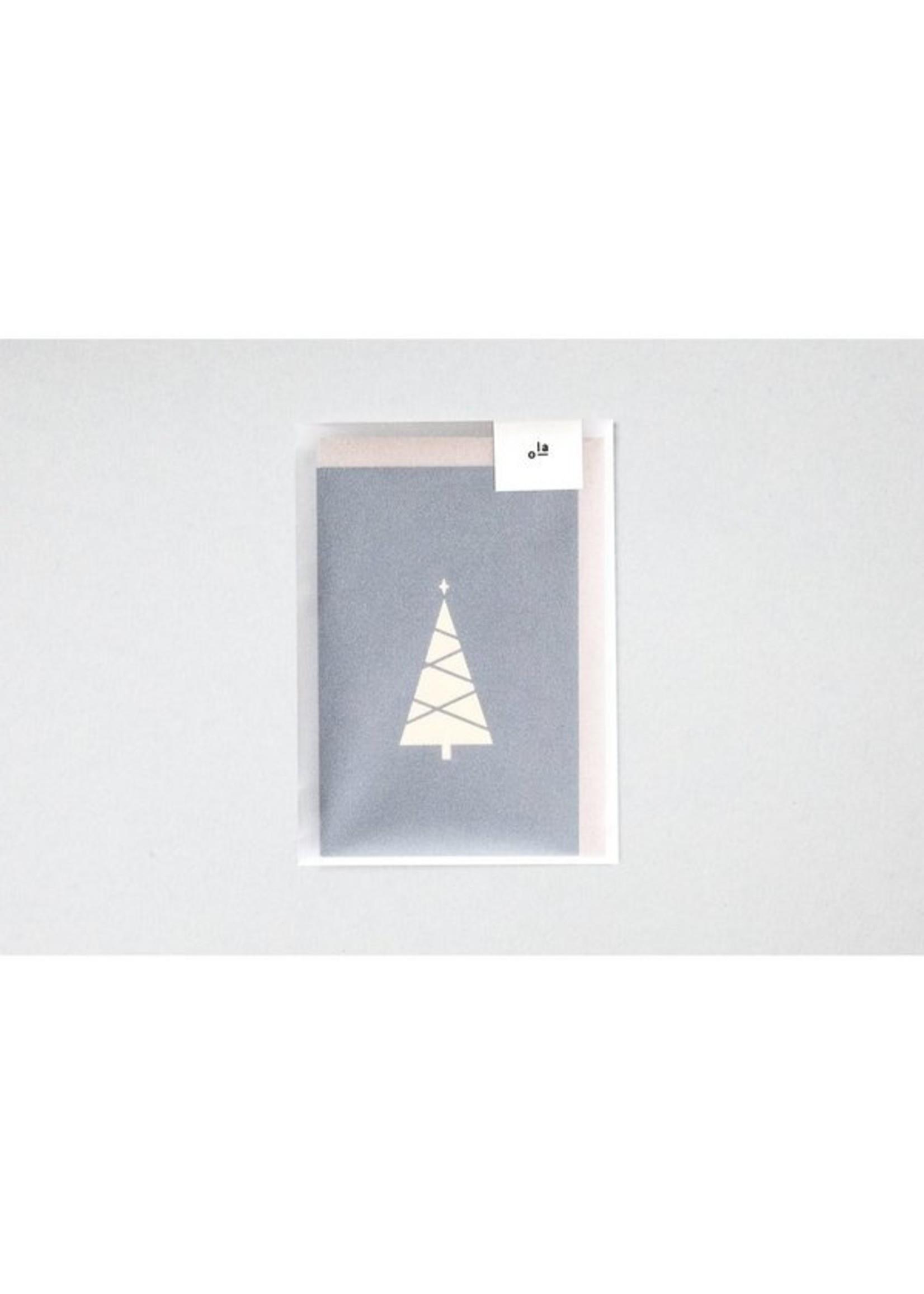 Ola Ola Foil Blocked Cards: Tree Print Pack of 6