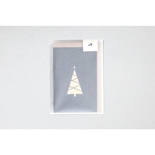 Ola Foil Blocked Cards: Tree Print Pack of 6