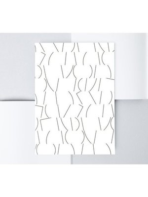 Ola Medium Layflat Notebook - Sol Print in Black and White/Plain Pages