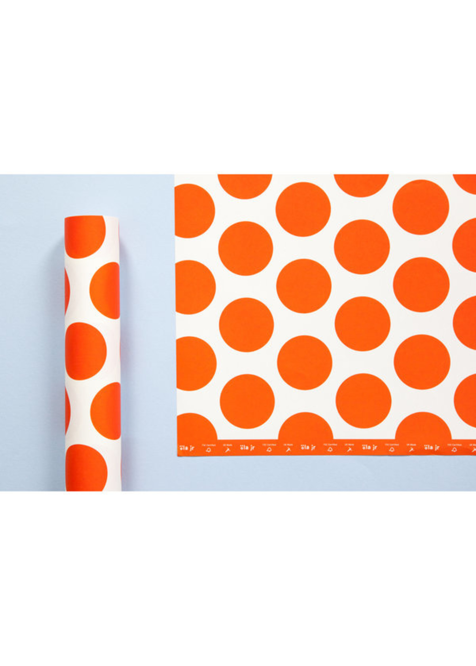 Ola Ola Patterned Papers: Circle Print in Red