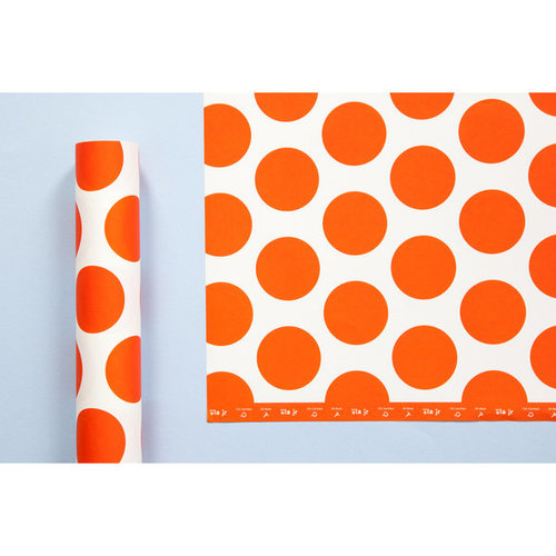 Ola Patterned Papers: Circle Print in Red