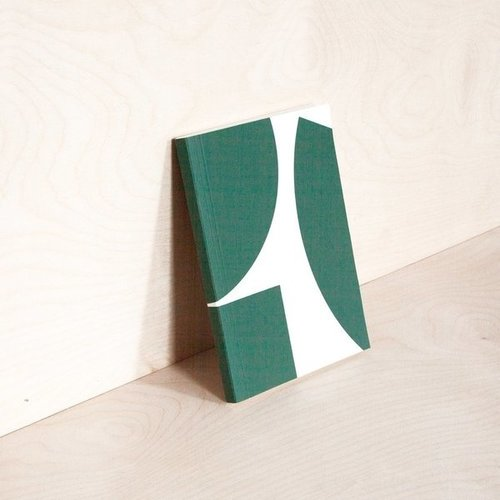 Ola *Limited Edition* Medium Layflat Weekly Planner, Blocks Print in Green - Calendar Insert: 2020/2021