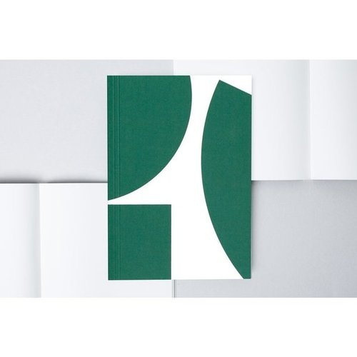 Ola *Limited Edition* Medium Layflat Weekly Planner, Blocks Print in Green - Calendar Insert: 2021/2022