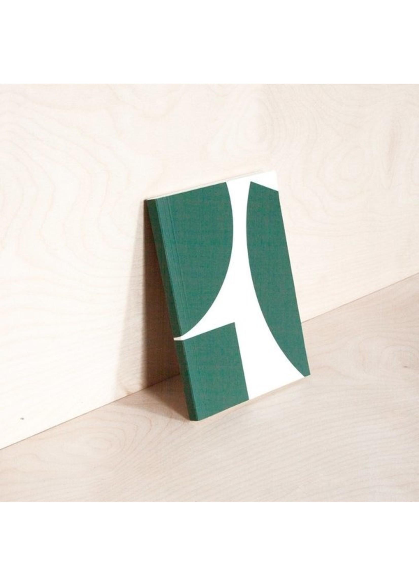 Ola Ola *Limited Edition* Medium Layflat Weekly Planner, Blocks Print in Green - Calendar Insert: 2021/2022