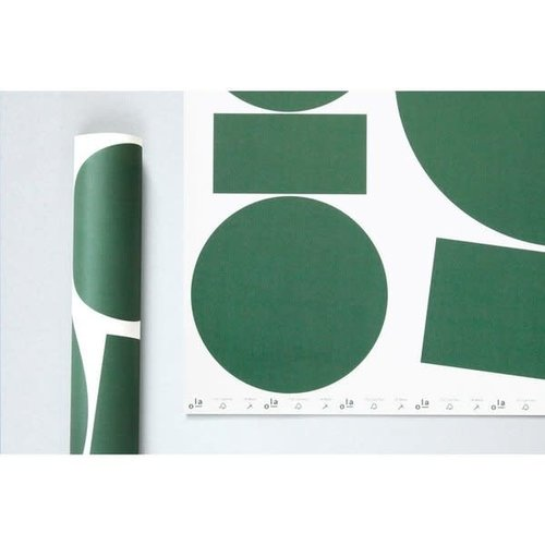 Ola *Limited Edition* Patterned Papers, Blocks Print in Green