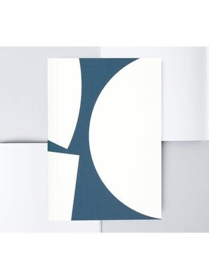 Ola *Limited Edition* Medium Layflat Notebook, Blocks Print in Blue/Plain Pages