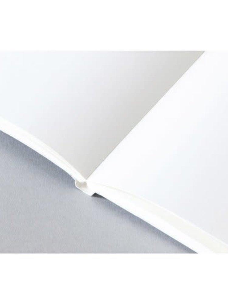 Ola Ola *Limited Edition* Medium Layflat Notebook, Blocks Print in Blue/Plain Pages