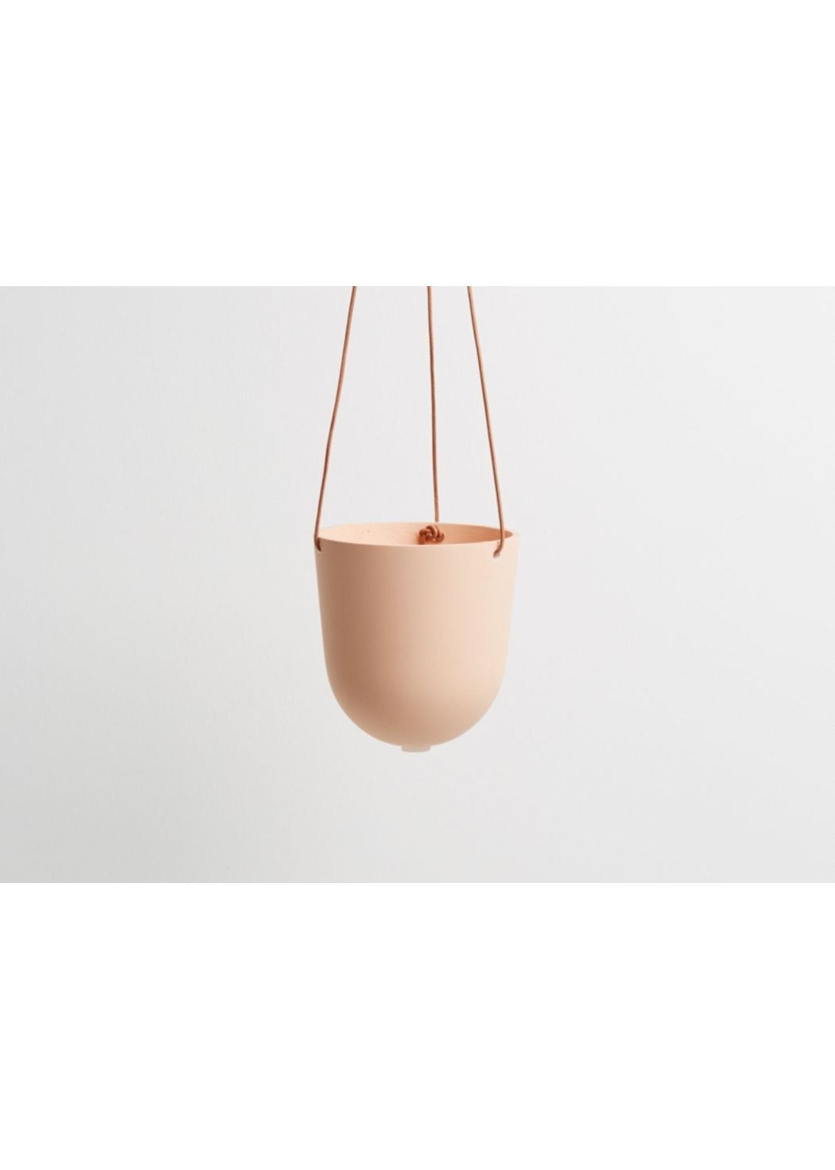 Capra Designs Capra Designs Block Colour Hanging Planter Salt/Peach