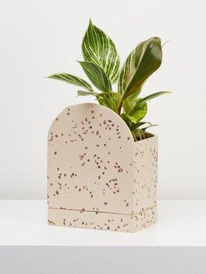 Capra Designs Sol Planter Terrazzo Fossil/Cream