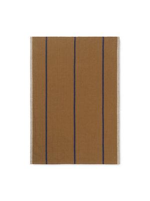 ferm LIVING ferm LIVING Hale Yarn Dyed Linen Tea Towels - Mustard/Navy