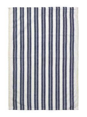 ferm LIVING Hale Yarn Dyed Linen Tea Towels - Off White/Blue