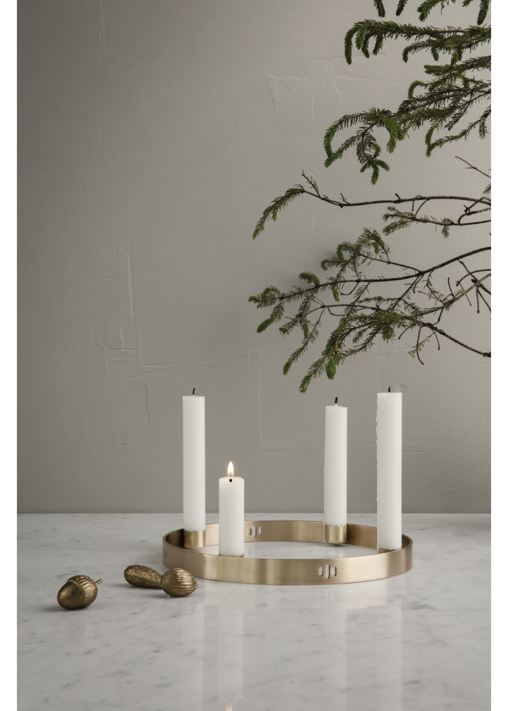 ferm LIVING ferm LIVING Candle Holder Circle - Small - Brass