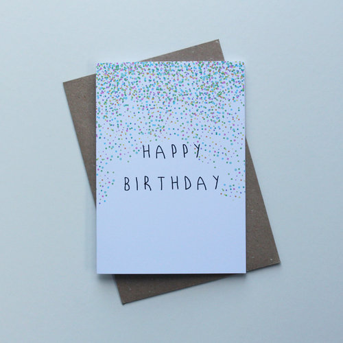 May Bear Happy Birthday Confetti Card