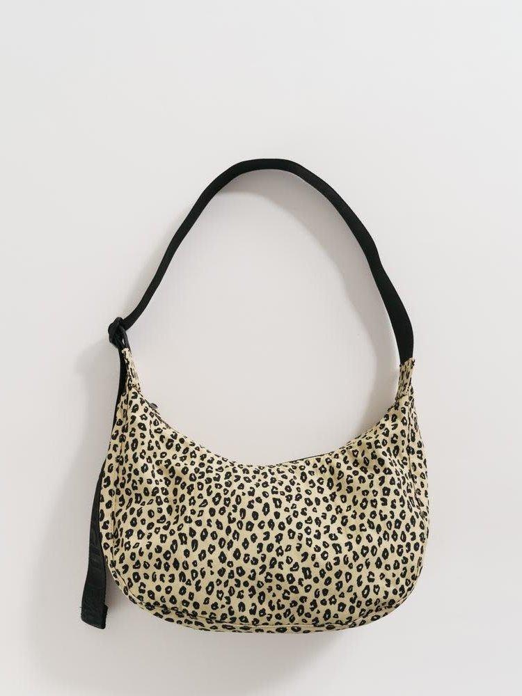Baggu Baggu Medium Nylon Crescent Bag - Honey Leopard