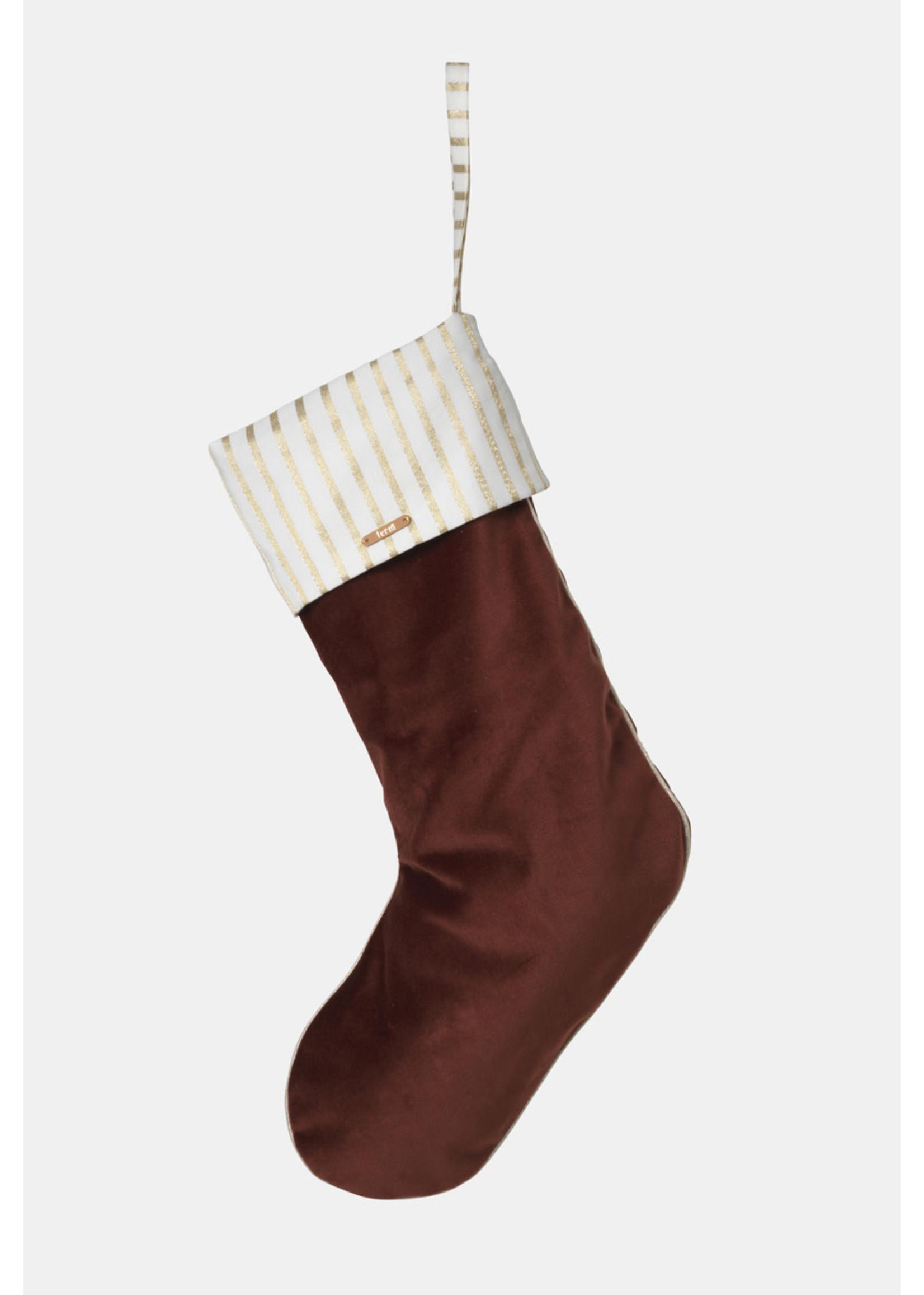 ferm LIVING Ferm Living Velvet Christmas Stocking