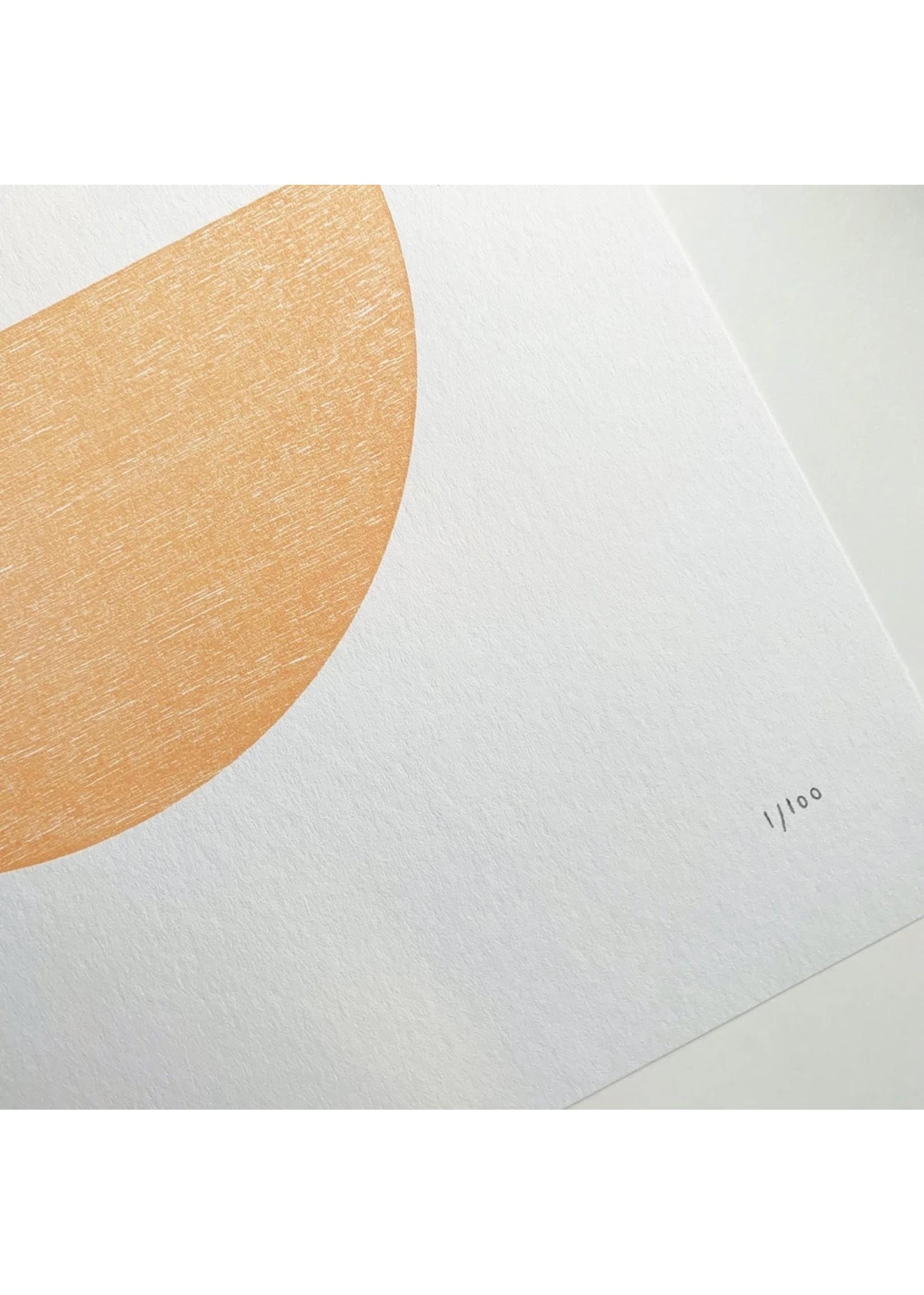 Tom Pigeon Tom Pigeon Hatch 1 Letterpress Print - 30x40cm