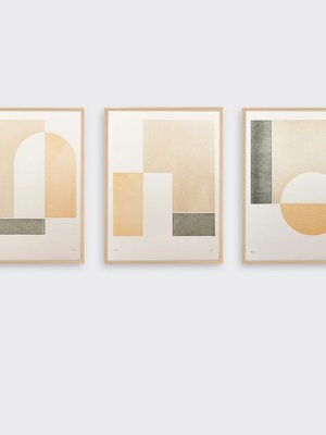 Tom Pigeon Tom Pigeon Hatch 2 Letterpress Print - 30x40cm