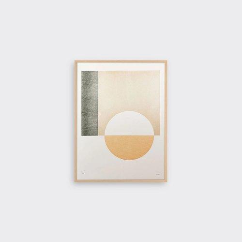 Tom Pigeon Hatch 3 Letterpress Print - 30x40cm