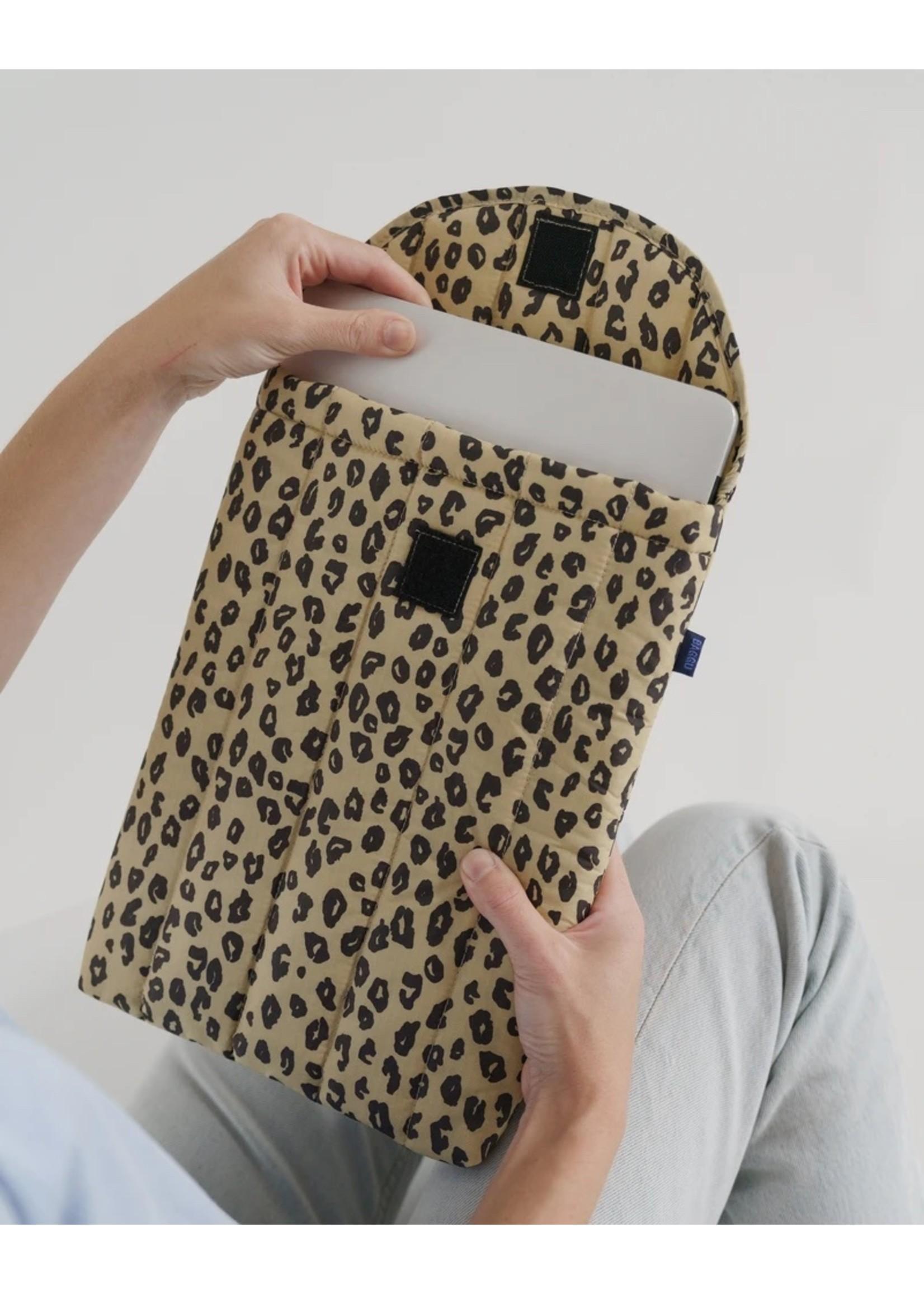 """Baggu Baggu Puffy Laptop Sleeve 13"""" - Honey Leopard"""