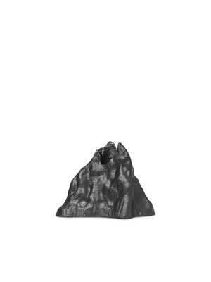 ferm LIVING Stone Candle Holder - Large - Black Alu