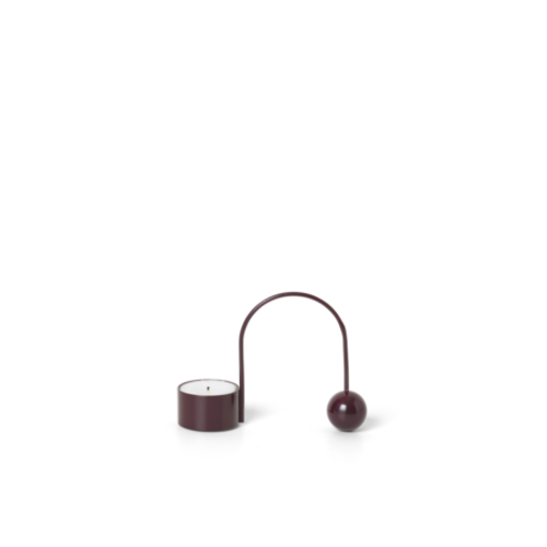 ferm LIVING Balance Tealight Holder - Dark Aubergine